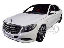 2016 Mercedes Benz Maybach S Class Diamond White Black Top 1/18 Diecast Model Car Almost Real 820101
