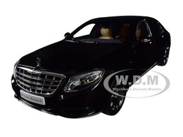 2016 Mercedes Benz Maybach S Class Obsidian Black 1/18 Diecast Model Car Almost Real 820102