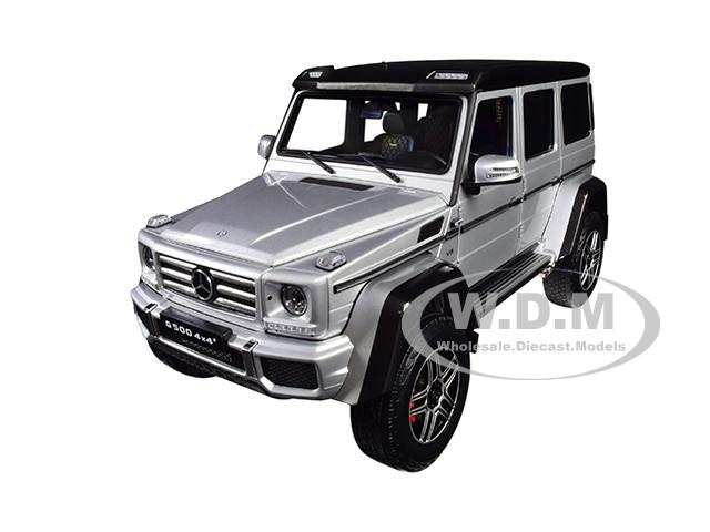 Mercedes Benz G Class 4×4² Iridium Silver Black Top 1/18 Diecast Model Car Almost Real 820204