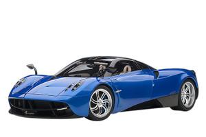 Pagani Huayra Metallic Blue Black Top Silver Wheels 1/12 Model Car Autoart 12232