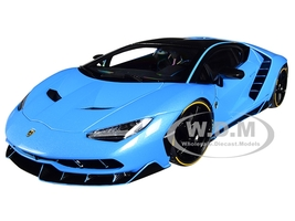 Lamborghini Centenario Pearl Blue Carbon Top 1/18 Model Car Autoart 79113