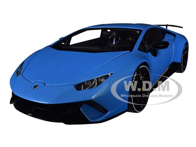 Lamborghini Huracan Performante Pearl Blue Black Wheels 1 18