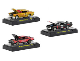 Coca Cola Release 2 Set 3 Cars Limited Edition 4800 pieces Worldwide Hobby Exclusive 1/64 Diecast Models M2 Machines 52500-RC02
