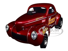 1941 Gasser Hooker Headers Metallic Red 1/18 Diecast Model Car Acme A1800910