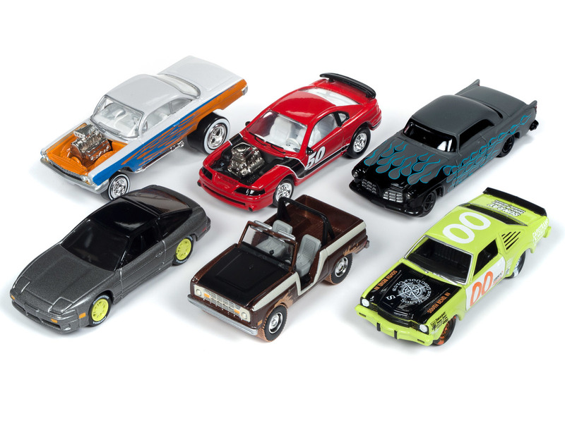 Street Freaks 2019 Release 1 Set B 6 Cars Limited Edition 3000 pieces Worldwide 1/64 Diecast Models Johnny Lightning JLSF012 B