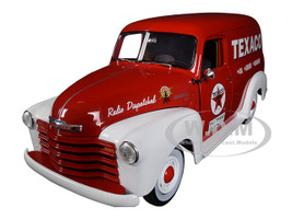 1948 Chevrolet Panel Delivery Truck Texaco Red Limited Edition 1002 pieces Worldwide 1/18 Diecast Model Car Autoworld AW248