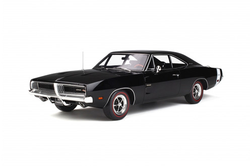 1969 Dodge Charger R/T Black  1/12 Model Car Otto Mobile ACME G032