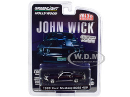 1969 Ford Mustang Boss 429 Chrome Gray Edition John Wick 2014 Movie Limited Edition 4600 pieces Worldwide 1/64 Diecast Model Car Greenlight 51228