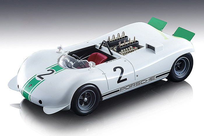 Porsche 909 Bergspyder #2 Rolf Stommelen 1968 Mont Ventoux Hill Climb Mythos Series Limited Edition 80 pieces Worldwide 1/18 Model Car Tecnomodel TM18-84 C