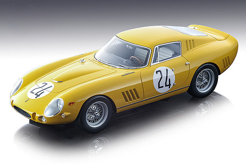 Ferrari 275 GTB-C #24 Mairesse Beurlys Ecurie Francorchamps 3rd Place 1965 Le Mans 24 Hours Mythos Series Limited Edition 120 pieces Worldwide 1/18 Model Car Tecnomodel TM18-85 B
