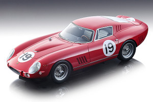 Ferrari 275 GTB-C #19 Arents Hutchinson 1965 Bridghampton 500 km Mythos Series Limited Edition 90 pieces Worldwide 1/18 Model Car Tecnomodel TM18-85 D
