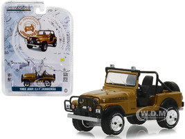 1982 Jeep CJ-7 Jamboree Gold 30th Anniversary Jamboree Commemorative Edition Anniversary Collection Series 7 1/64 Diecast Model Car Greenlight 27970 D