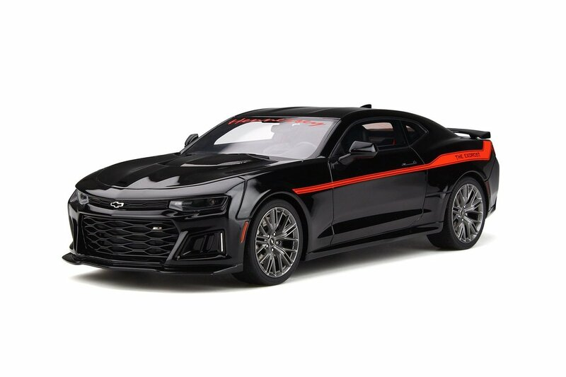 Chevrolet Camaro ZL1 The Exorcist Hennessey Performance Black Red Stripes 1/18 Model Car GT Spirit GT225