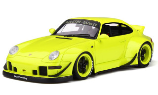 Porsche RWB 993 Duck Tail Citron Yellow Asia Exclusive Series Limited Edition 500 pieces Worldwide 1/18 Model Car GT Spirit Kyosho KJ026