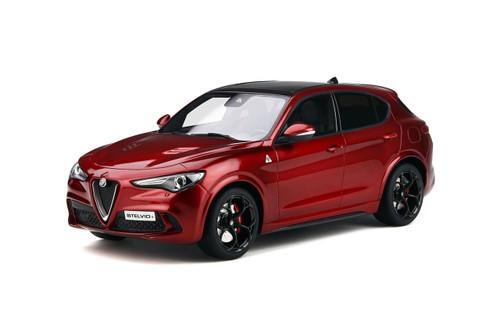 Alfa Romeo Stelvio Quadrifoglio Sunroof Rosso Competizione Red Limited Edition 1500 pieces Worldwide 1/18 Model Car Otto Mobile OT285