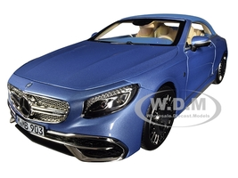 2018 Mercedes Maybach S650 Cabriolet Metallic Blue 1/18 Diecast Model Car Norev 183471