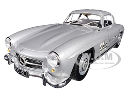 1955 Mercedes Benz 300 SL Silver Limited Edition 600 pieces Worldwide 1/18 Diecast Model Car Minichamps 110037210