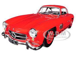 1955 Mercedes Benz 300 SL Red Limited Edition 300 pieces Worldwide 1/18 Diecast Model Car Minichamps 110037211