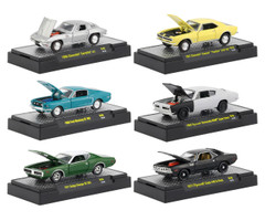 Detroit Muscle Release 46 6 Cars Set DISPLAY CASES 1/64 Diecast Model Cars M2 Machines 32600-46