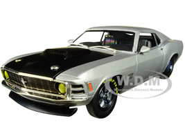 1970 Ford Mustang Boss 429 Matt Silver Limited Edition 5880 pieces Worldwide 1/24 Diecast Model Car M2 Machines 40300-71 A