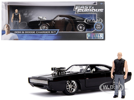 Dodge Charger R/T Black Dom Diecast Figure Fast & Furious Movie 1/24 Diecast Model Car Jada 30737