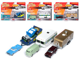 Tow & Go Series 1 Set A of 3 Cars Johnny Lightning 50 Years Limited Edition 4000 pieces Worldwide 1/64 Diecast Model Cars Johnny Lightning JLTG001 A
