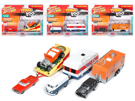 Tow & Go Series 1 Set B of 3 Cars Johnny Lightning 50 Years Limited Edition 4000 pieces Worldwide 1/64 Diecast Model Cars Johnny Lightning JLTG001 B