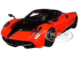 Pagani Huayra Red Black Wheels 1/24 Diecast Model Car Motormax 79312