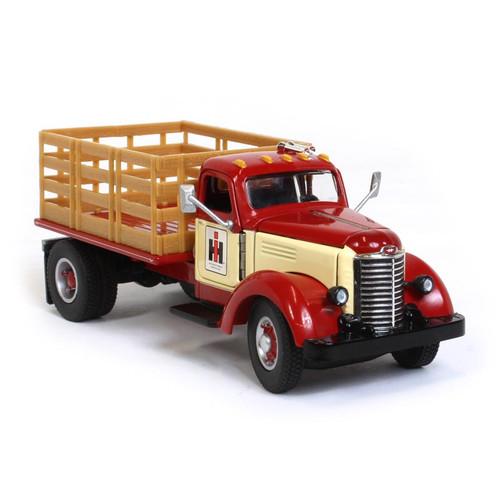 International KB-8 International Harvester Stake Bed Truck Red Cream 1/50 Diecast Model Speccast ZJD1846