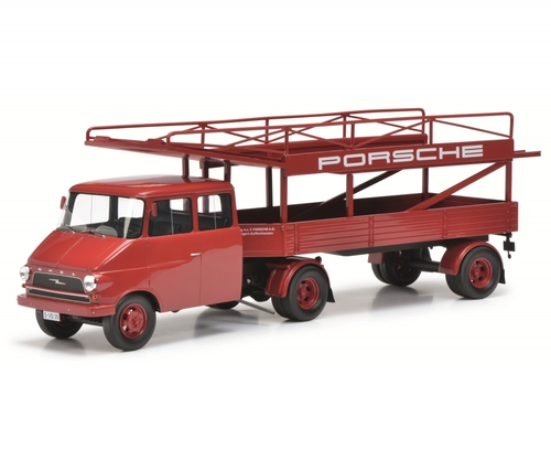 Opel Blitz Porsche Racing Transporter Red Limited Edition 2000 pieces Worldwide 1/18 Model Schuco 450008400
