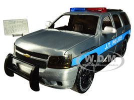 2010 Chevrolet Tahoe JT Police Raw Metal Blue Stripes Hero Patrol Jada 20th Anniversary 1/24 Diecast Model Car Jada 31076