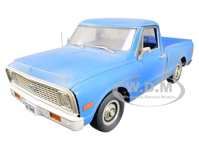1971 Chevrolet C-10 Pickup Truck Light Blue Dusty The Texas Chainsaw Massacre 1974 Movie 1/18 Diecast Model Car Highway 61 18014