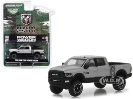 2018 Dodge Ram 2500 Power Wagon Pickup Truck Metallic Silver Hobby Exclusive 1/64 Diecast Model Car Greenlight 30014