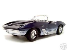 1961 Chevrolet Corvette Mako Shark Blue 1/18 Diecast Car Model Motormax 73102