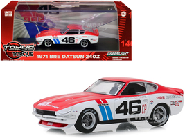 1971 Datsun 240Z #46 John Morton Brock Racing Enterprises BRE Tokyo Torque Series 1/43 Diecast Model Car Greenlight 86334