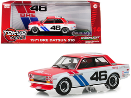 1971 Datsun 510 #46 John Morton Brock Racing Enterprises BRE Tokyo Torque Series 1/43 Diecast Model Car Greenlight 86335