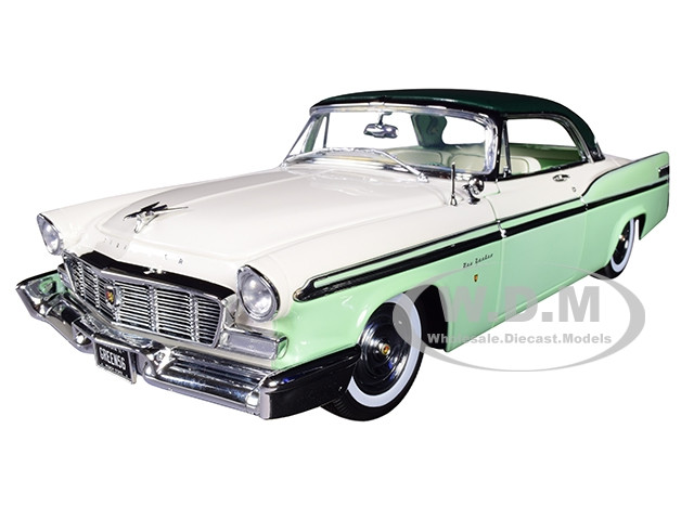 1956 Chrysler New Yorker St Regis Mint Green White Dark Green Top Limited Edition 570 pieces Worldwide 1/18 Diecast Model Car ACME A1809003