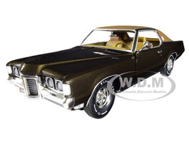 1969 Pontiac Grand Prix SJ Expresso Brown Metallic Dark Brown Top MCACN 10th Anniversary Muscle Car & Corvette Nationals Limited Edition 1002 pieces Worldwide 1/18 Diecast Model Car Autoworld AMM1175