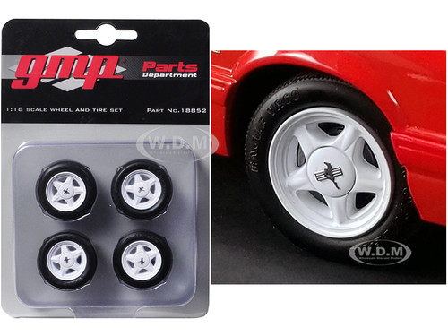 Pony Wheels Tires Set 4 pieces 1992 Ford Mustang LX 1/18 GMP 18852