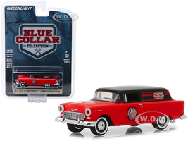 1955 Chevrolet Sedan Delivery Marvel Mystery Oil Blue Collar Collection Series 5 1/64 Diecast Model Car Greenlight 35120 A