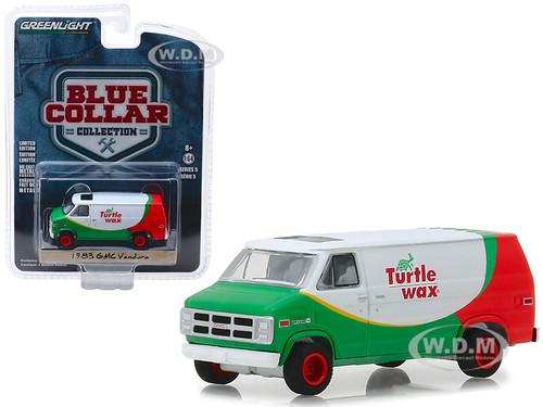 1983 GMC Vandura Van Turtle Wax Blue Collar Collection Series 5 1/64 Diecast Model Car Greenlight 35120 E