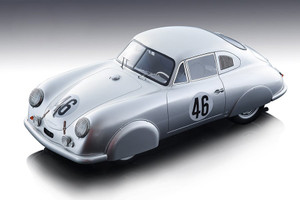 Porsche 356 SL #46 Auguste Veuillet Edmond Mouche Le Mans 24H 1951 Mythos Series Limited Edition 170 pieces Worldwide 1/18 Model Car Tecnomodel TM18-95 A