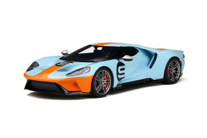 Ford GT #9 Gulf Heritage Edition Blue Orange Stripes Limited Edition 999 pieces Worldwide 1/18 Model Car GT Spirit GT783