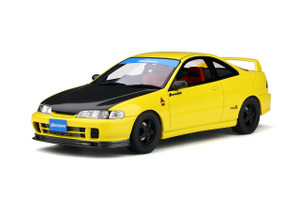 Honda Integra DC2 Spoon Sunlight Yellow Black Hood Limited Edition 1500 pieces Worldwide 1/18 Model Car Otto Mobile OT792