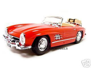1957 Mercedes 300SL Touring Convertible Red 1/18 Diecast Model Car Bburago 12049