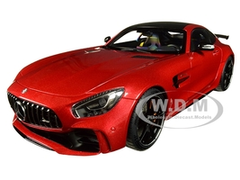 Mercedes AMG GT R AMG Designo Cardinal Red Metallic Carbon Top 1/18 Model Car Autoart 76331
