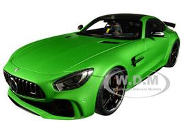 Mercedes AMG GT R AMG Green Hell Magno Matt Metallic Green Carbon Top 1/18 Model Car Autoart 76333