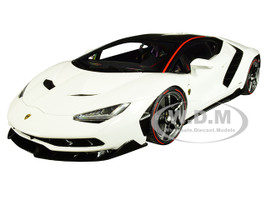Lamborghini Centenario Bianci Isis Solid White Carbon Top 1/18 Model Car Autoart 79111