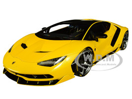 Lamborghini Centenario New Giallo Orion Metallic Yellow Carbon Top 1/18 Model Car Autoart 79115