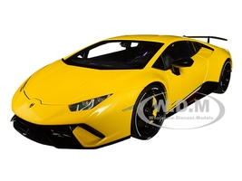 Lamborghini Huracan Performante Giallo Inti Pearl Effect Yellow Black Wheels 1/18 Model Car Autoart 79155